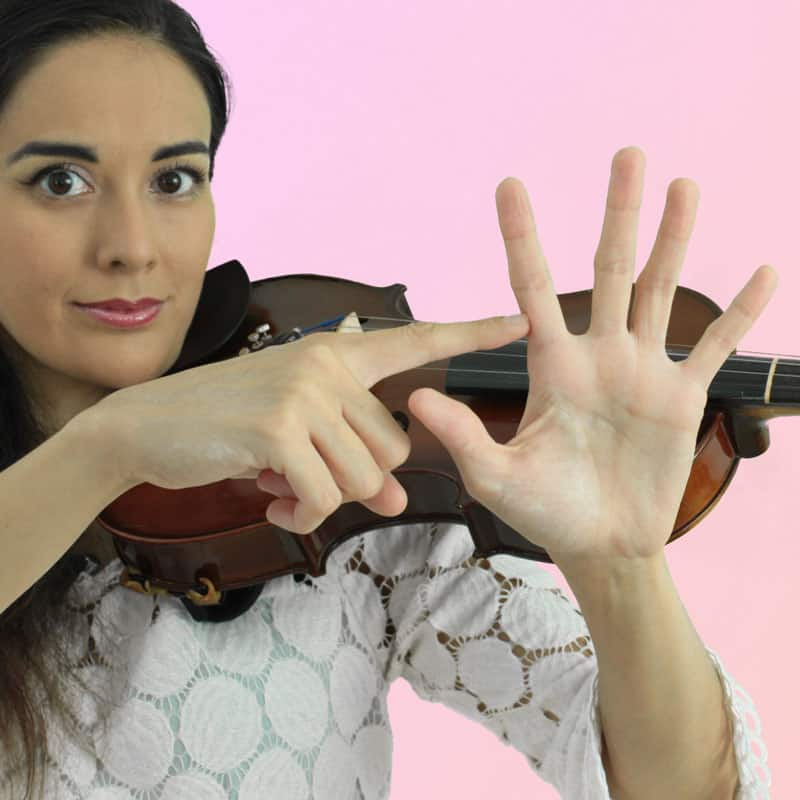 Dedo índice del violín
