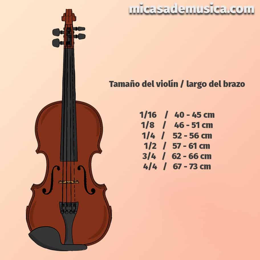 medida de violín 6 - tabla de medidas del violín