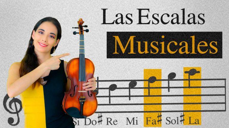Las escalas en el violín